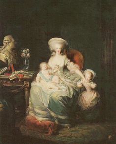 Marie-Antoinette with her children Marie-Therese and Louis-Joseph, 1782 by Charles Leclercq