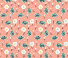 Bunny hop fabric by bethan_janine on Spoonflower - custom fabric