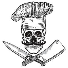 Chef Boy Are Dead #chef #chefHat #cleaver #meatCleaver #knife #ChefKnife #mustache #moustache #food #foody #foodie #cook #chef Hipster #jollyRoger #pirate