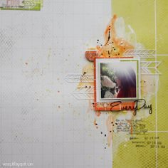 V-tyylillä: Enjoy every day: Skräppisivu Askartelu Amalialle ColorHills-tuotteista