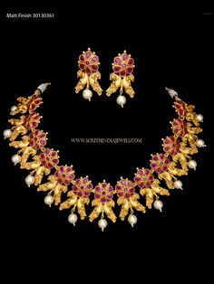 Rate this from 1 to Ruby Necklaces Short Ruby Choker Necklace Set Ruby Baguette and White Diamond Necklace in Rose Gold… Gold Ball Haram With Ruby Jewelry, Emerald Earrings, Ruby Necklace Designs, Amrapali Jewellery, Bollywood Jewelry, Jewelry Showcases, Antique Necklace, Imitation Jewelry, Necklace Set
