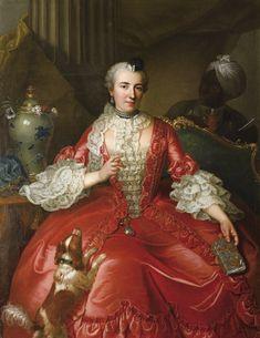 Marie-Jacqueline Fabre Descours (1718-1777), c. 1737 by Michel Hubert Descours (1707-1775)