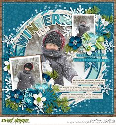 Cindy's Layered Templates - Single 163: Winter by Cindy Schneider Christmas Melodies: Sleigh Bells Ring by Kristin Cronin-Barrow Small alpha by Studio Flergs Stitching by Traci Reed (retired)