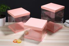 Cheap counting, Buy Directly from China count for 6 inch Clear Plastic Bakery Cake packing storage Boxes transparent Birthday Cake Food container Accessory Deco. Diy Gift Box Template, Cake Boxes Packaging, Birthday Room Decorations, Bakery Business Cards, Edible Bouquets, Transparent Box, Flower Box Gift, Bunny Crafts, Party In A Box