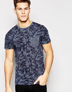Camiseta con estampado de palmeras de Tommy Hilfiger// solo negro