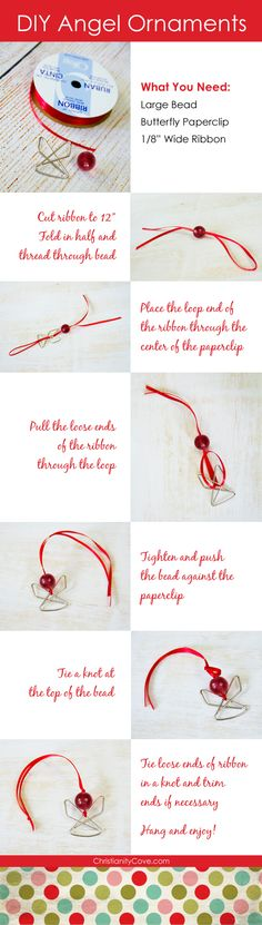 Here's a great paperclip angel Christmas ornament that is perfect for Sunday School. It's easy for children to create on their own, it looks beautiful on a tree, and can be created start to finish in no time! For more easy, kid-friendly seas