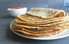 Regular Dutch pancakes are made out of flour, eggs, cow's milk and a tiny bit of salt. They are a lot thinner and bigger in diameter than their American counterpart. Americans stack their pan…