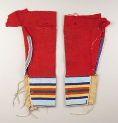 A PAIR OF CROW GIRL'S BEADED CLOTH LEGGINGS. c. 1900. ... (Total: | Lot #87007 | Heritage Auctions