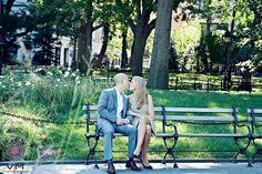 Engagement. Washington Square Park. New York.