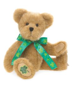 Another great find on #zulily! St. Patrick's Day Collector Bear #zulilyfinds