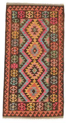 Alfombra Kilim Afghan Old style 100x193