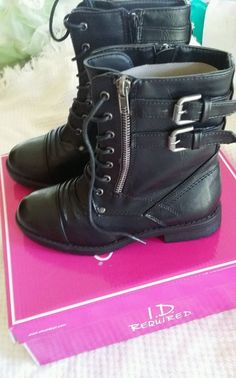 Youth shoe size 2 black size zipper closure combat boots nwb in Clothing, Shoes & Accessories, Kids' Clothing, Shoes & Accs, Girls' Shoes | eBay