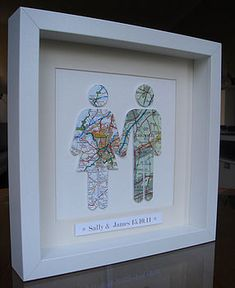 Personalised couple map picture.