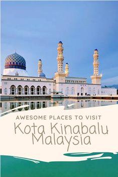Awesome Places To Visit Kota Kinabalu Malaysia and Things To Do - Fiji Travel, Hawaii Travel, Asia Travel, Hawaii Honeymoon, Beautiful Places To Travel, Cool Places To Visit, Beautiful Beaches, Lanai Island, Island Beach