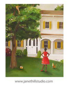 Oh Caroline. Original Oil Painting by janethillstudio on Etsy