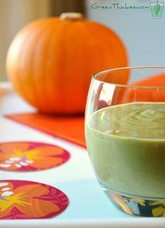 Orange juice and pumpkin smoothie