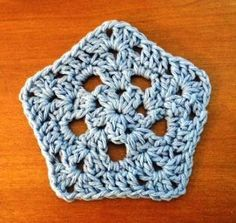 Lots of Crochet Stitches by M. J. Joachim: Pentagon Motif Pattern 022513