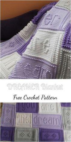 DREAMER Crochet Blanket – Free Pattern! #crocheting #blankets #crochetpatterns