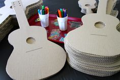 decorate your own party guitar