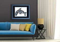 """Haida Orca, Tlingit Killer Whale Art. Native American, First Nations, Northwest Coast FINE ART PRINT. Custom Size & Color - """"Pacific Dream"""". Pacific Dream This is the first piece done in the Haida / Tlingit style. Because I was born on Vancouver Island in Canada, and grew up in the Yukon Territory, this style has a very special place in my heart. I adore this type of artwork, and spent a lot of time on this piece to remain true to the style, but also to include my own style as well. The..."""