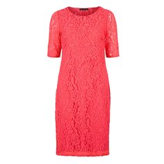 David Emanuel Half Sleeve Lace Dress 52in (349711) | Ideal World