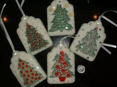 Felt Gift Tags / Gift Card Holders / RESERVED by Beedeebabee