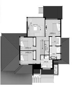 entrée principale de la Maison 2M Evolution Architecture, Architecture Design, Flat Roof House, Modern Contemporary Homes, Construction, House Floor Plans, Home Projects, House Design, Flooring