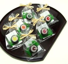 Sushi Party Favour Tekka Maki Sushi Candle Favor by doublebrush