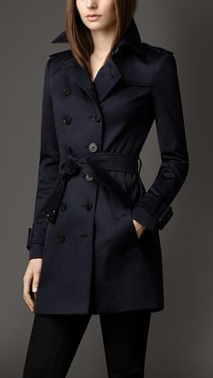 Mid-Length Stretch Cotton Trench Coat | Burberry