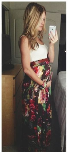 Love the idea of maxi dresses and skirts during pregnancy especially for the spring/summer