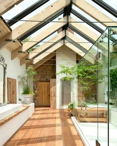 Maybe nite a glass roof I a bathroom but yes for hallway