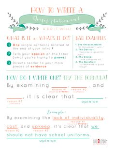 How to write a thesis statement. thesis anchor chart.jpg                                                                                                                                                                                 More