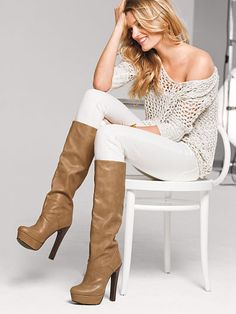 Platform Slouch Boot and cute outfit