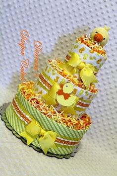 Baby Diaper Cakes by Dianna's Diaper Cakes Shower Gifts Centerpieces - Baby Diaper Cakes by Dianna Baby Shower Gifts, Baby Gifts, Nappy Cakes, Cool Baby Stuff, Rubber Duck, Killeen Texas, Create, Baby Ideas, Ducks