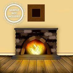 Fireplace Digi Stamp in Digital images