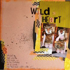 Paper and Pins. my handmade journey: 123 challenge for October! My Scrapbook, Scrapbook Layouts, Wild Hearts, Embellishments, October, Vintage Fashion, Challenges, Journey, Paper