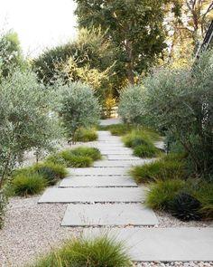 Front Porch Landscape, Front Yard Landscaping, Mediterranean Garden, Outdoor Playground, Modern Landscaping, Outdoor Fire, Back Gardens, Garden Paths, Garden Inspiration