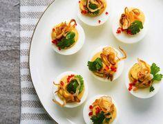 Thai style deviled eggs