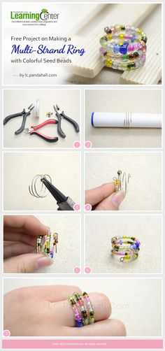 Free Project on Making a Multi-Strand Ring with Colorful Seed Beads