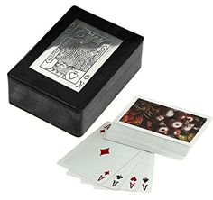 Wooden Playing Card Box for Storage  Playing Card Holder with Deck of Card  Card Games  45 x 35 x 15 * Want additional info? Click on the image.
