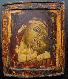 ΜΡ.ΘΥ__Παναγία ( Mother of God of Korsun, around 1700, Russian icon, tempera on…