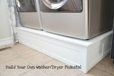 How to build a washer/dryer platform