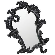 Gilt Claudette Mirror Black now featured on Fab.  Make yourself and your home fabulous with the Antoinette Mirror from Fabulous & Baroque. Intricately crafted from mahogany and finished in black laquer, this mirror is adorned with carved flourishes—typical of the Rococo era. A standout accent piece from the bathroom to the boudoir, you'll always look good when looking through this looking glass.
