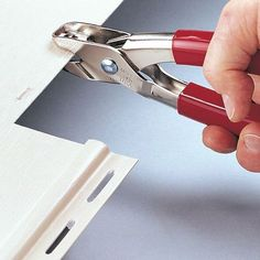Malco Vinyl and Aluminum Snap Lock Punch. Snap locks plastic skirting and siding to finish trim by creating a tab in the cut edge of the siding panel. Punch raises a high projection to compensate for natural relaxation of vinyl siding. Vinyl Siding Repair, Vinyl Siding Installation, Diy Carport, Small Sheds, Diy Shed Plans, Home Repairs, Wooden Diy, Punch, Instruments