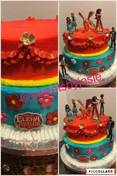 Elena of Avalor buttercream cake by sweetsbyjosie Such a beautiful Cake for a Princess Elena birthday party Bday Girl, Little Girl Birthday, Princess Birthday, Baby Birthday, Princess Party, Birthday Cake, Elana Of Avalor, 5th Birthday Party Ideas, Princesas Disney