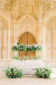 Classic, elegant white, accentuated with green foliage and pastel pink florals. Timeless Wedding, Elegant Wedding, Floral Wedding, Lilac Flowers, Complimentary Colors, Wedding Shoot, Wedding Venues, Wedding Calligraphy, Spring Garden