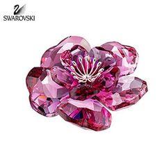 Swarovski Crystal Figurine Flower DAROSE Red Crystal #956808