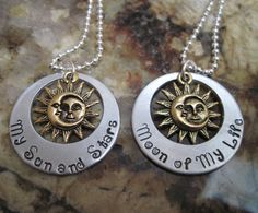 Game of Thrones - My Sun and Stars  Moon of My Life Necklace Set Daenerys and Khal Song of Ice and Fire