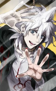 NO! GET OFF THE SCREEN, YOU TRASH! Nagito Komaeda - Dangan Ronpa 2
