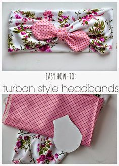 689c9660395 Tutorial Tuesday    DIY Turban Style Headband by Simple As That. Diy Baby  HeadbandsDiy ...